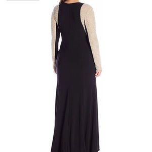 Xscape Dresses - Xscape Beaded Long Sleeved Gown
